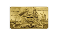 Meget smukt og detaljeret motiv af Moder Danmark der tager det sønderjyske folk i sine arme.