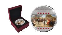 Sølvmønt i 99,9% sølv belagt med swarovski krystaller. Leveres i genforenings-skrin med nummereret ægthedscertifikat.