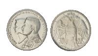 De to eneste typer 30 drachmer i sølv