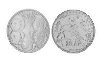 2 historiske sølvmønter