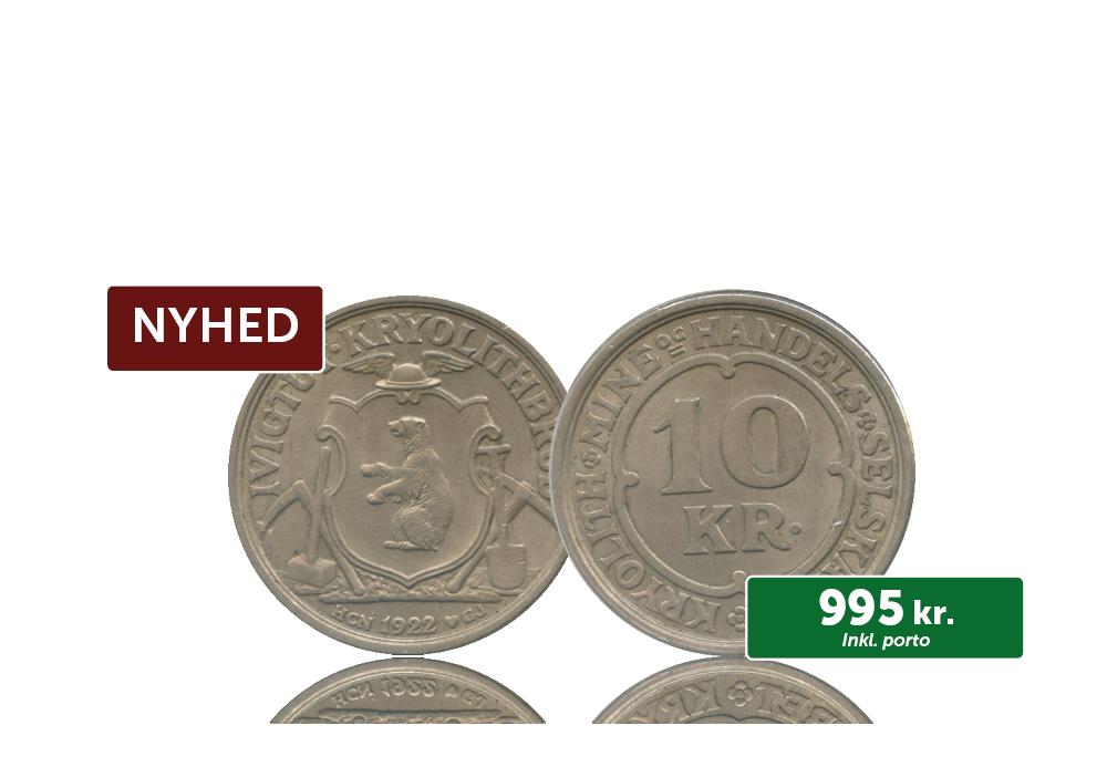 Grønland 10 kr Kryolith 1922