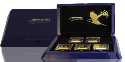 Verdenspremiere: barre sæt præget i 99,9% guld med helt ny prægningsteknik