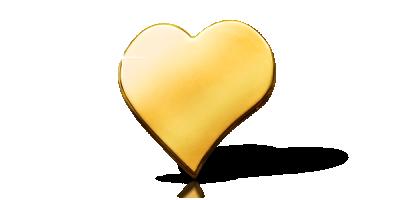 Meget speciel hjerteformet mønt, 99,9 % guld - den perfekte gave til din elskede