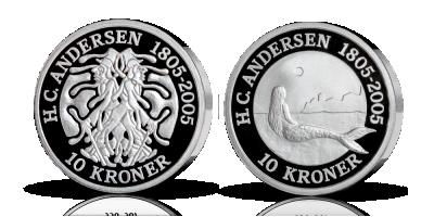H.C. Andersen-mønter sølvsæt 2 mønter