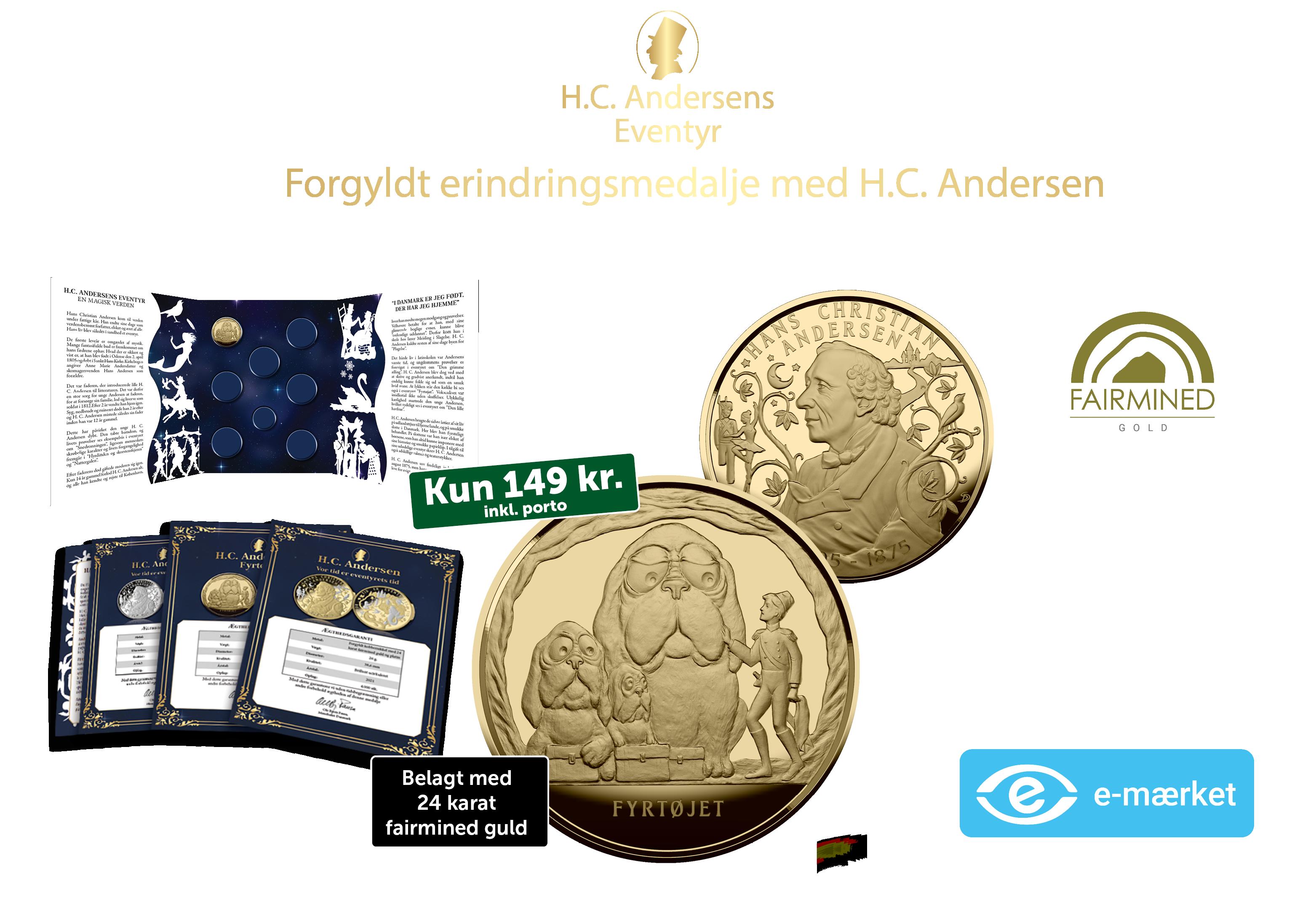 Ny og eksklusiv samling med H.C. Andersen - nu i 99,9% fairmined guld