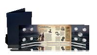 En gratis samlemappe hvor du kan opbevare din medalje og læse mere om vikingernes interessante historie