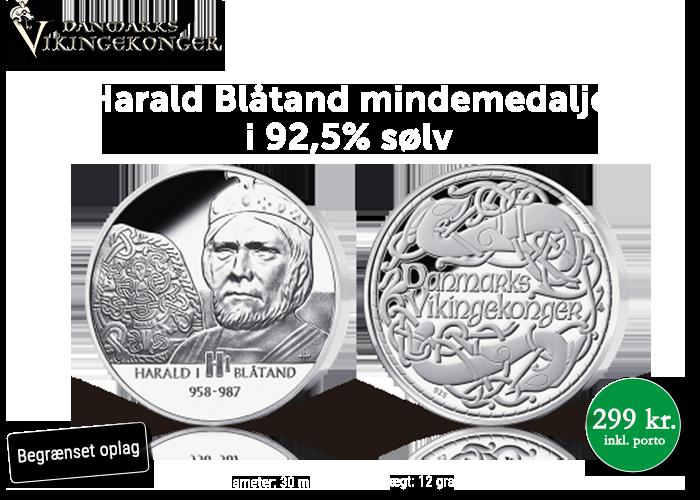 Vikingekongen, som gav danskerne kristendommen, i ren sterling sølv
