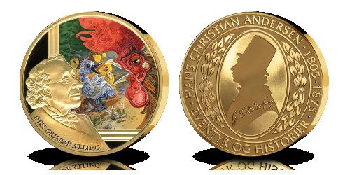 Den grimme ælling - belagt med 24 karat guld - GRATIS