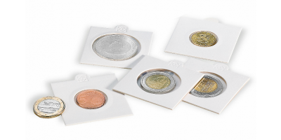 Hvide MATRIX møntholdere - Diameter: 25 mm pakke med 100 stk.