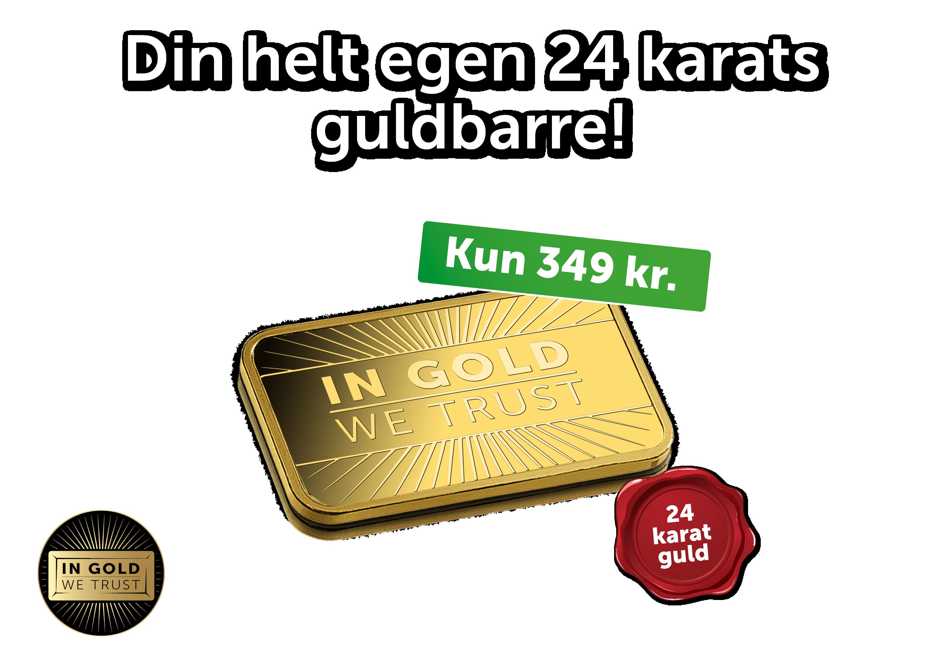 Din helt egen 24 karats guldbarre! - Hele 24 karat guld!