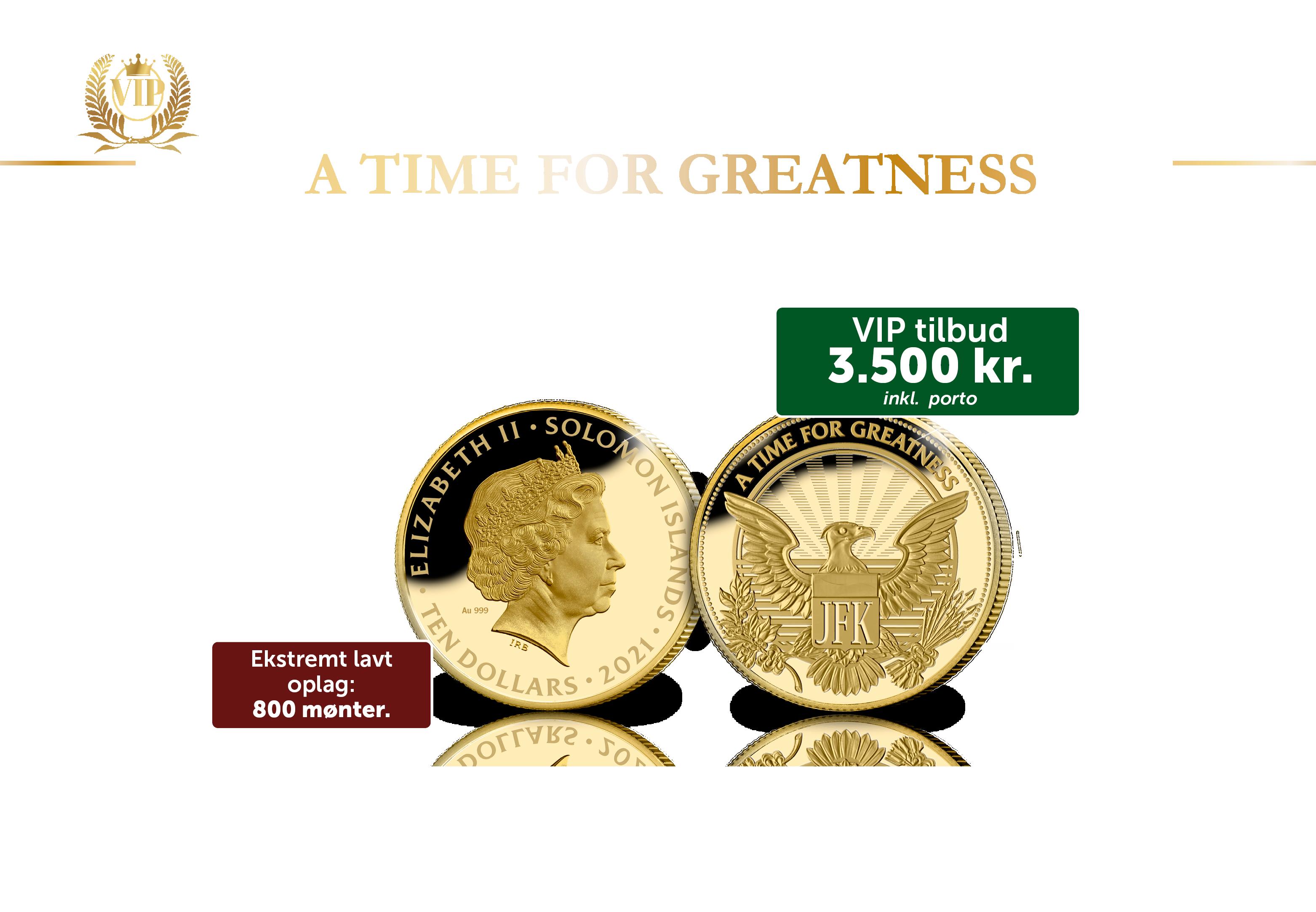 John F. Kennedy – Manden bag monogrammet 1/10 oz guldmønt