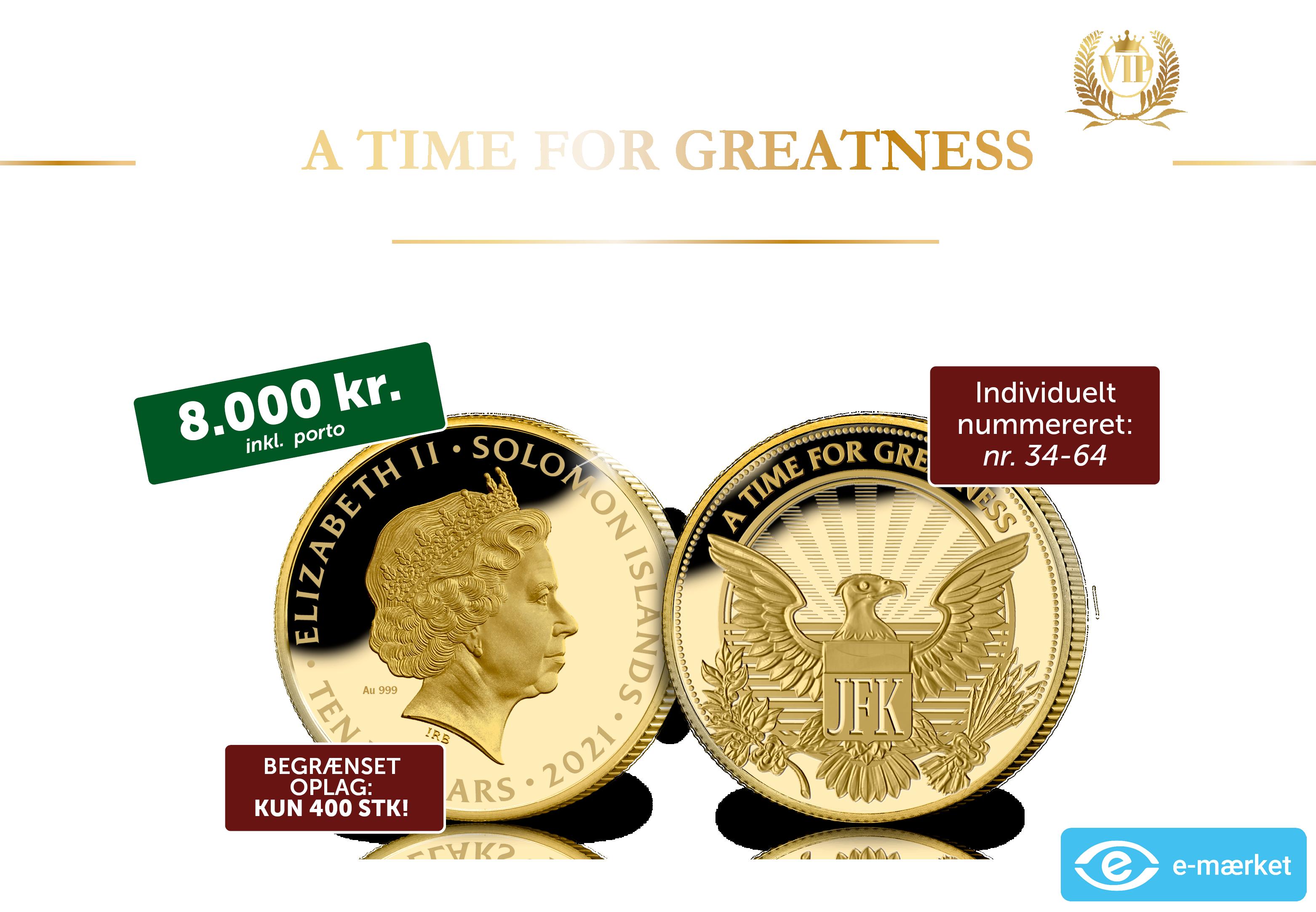 John F. Kennedy – Manden bag monogrammet 1/4 oz guldmønt