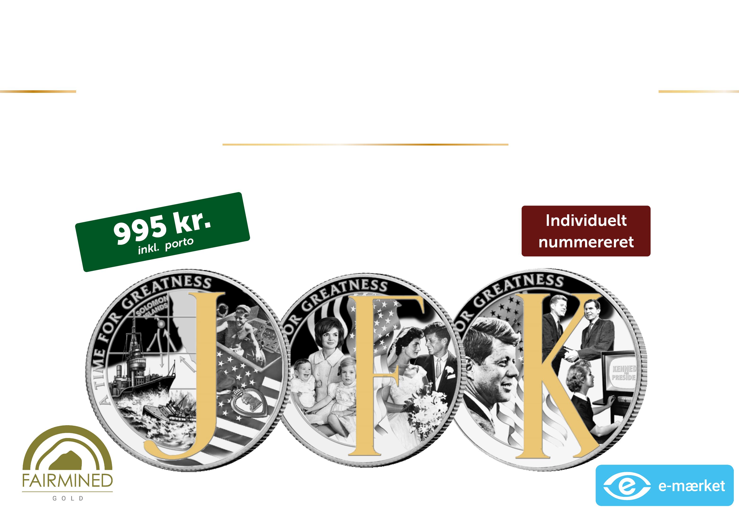 John F. Kennedy møntsæt - Manden bag monogrammet.