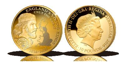 Jubilæumsmønt for Knud den Store - markering af 1000-året for erobringen af England