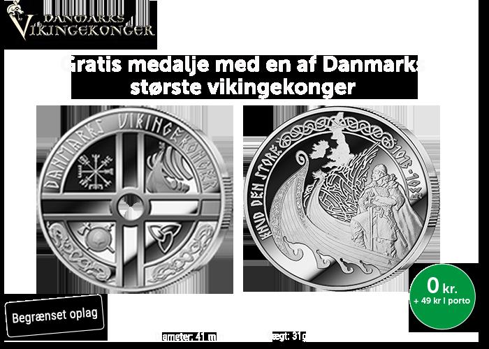Knud den Store 1000 år jubilæumsmedalje - GRATIS!