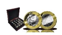 Komplet sæt med 16 mønter fra OL i Rio