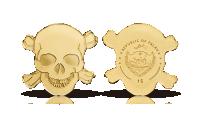 Kranie i 99,99 % guld