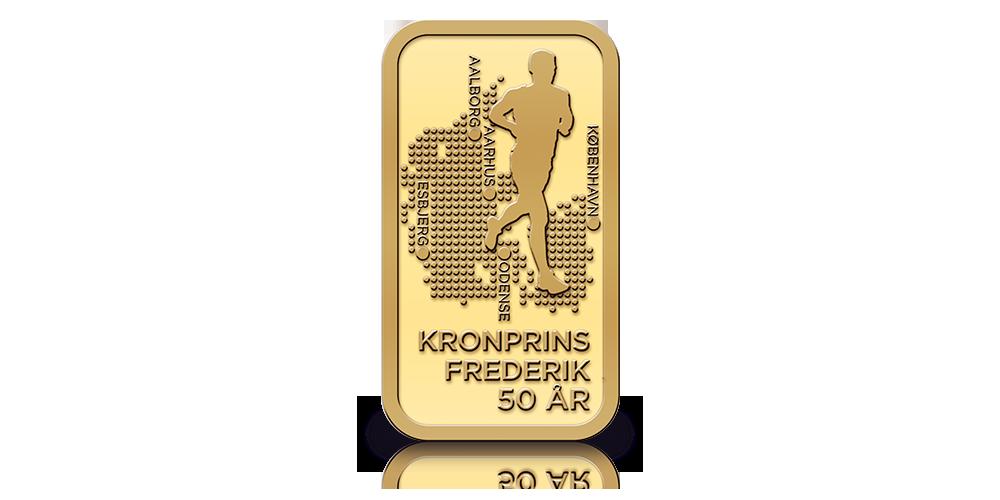 Vi fejrer Kronprins Frederiks 50 år med 2,5 gram guldbarre
