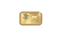 Danmarks Kulturskat - 5 gram guldbarre med motiv af Solvognen