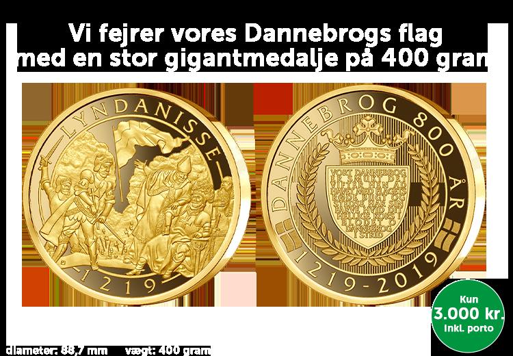 Gigantmedalje på hele 400 gram belagt med 24 karat guld