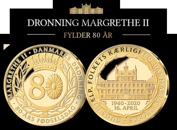 Dronning Margrethe II - Eksklusiv specialudgave belagt med 24 karat guld