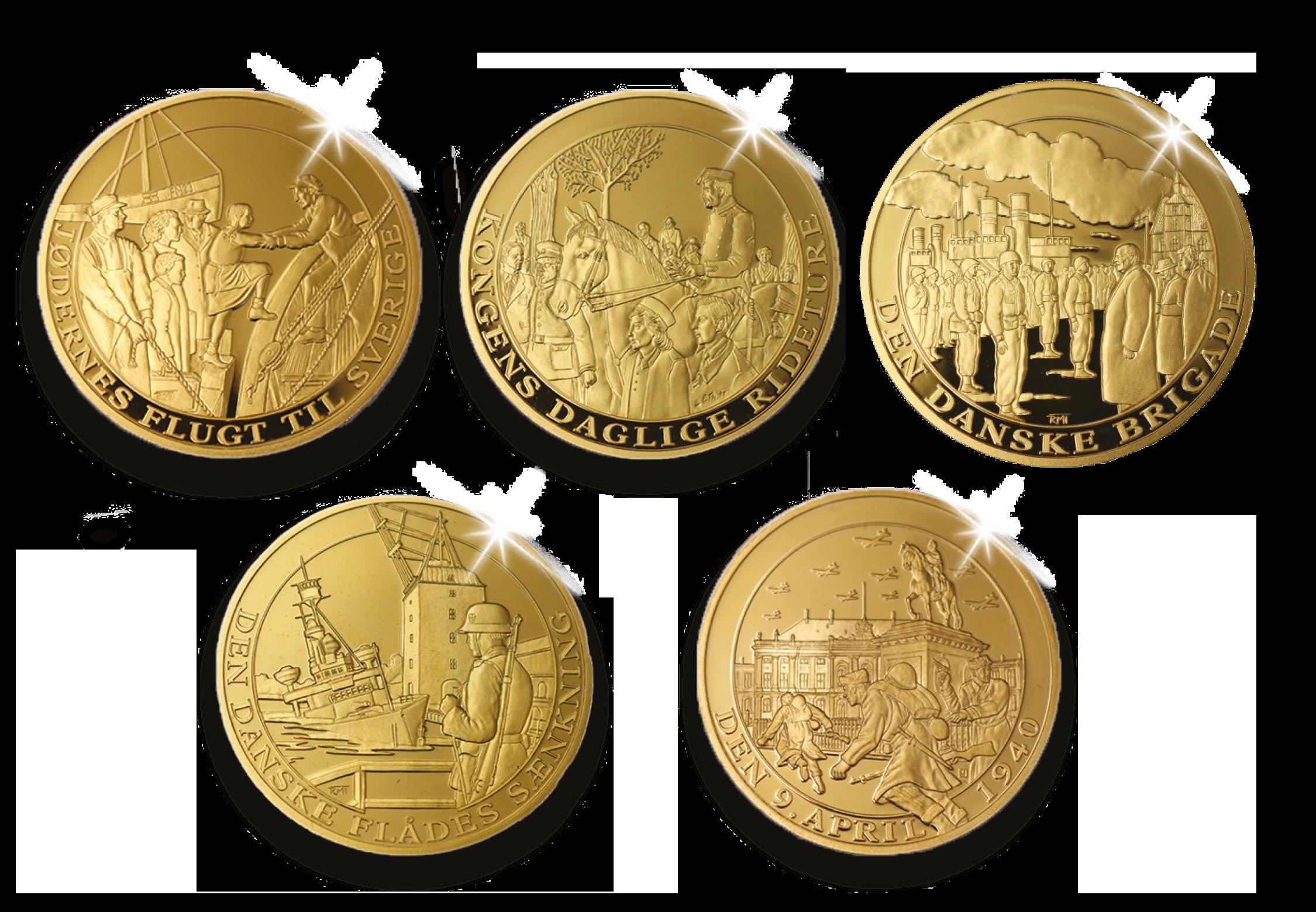 Medaljesæt højdepunkter fra Besættelsen