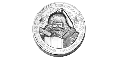 Merry christmas silver coin 2020