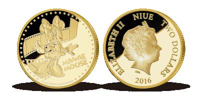 Minni Mouse - Disneys darling præget i 99,9% guld