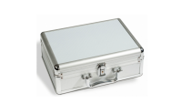 Møntkuffert i aluminiumslook str. S 292 x 97 x 213 mm
