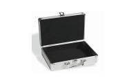 Møntkufferten kan låses og der medfølger 2 nøgler. 6 indlæg er inkluderet som hver kan indeholde 20 mønter optil 41 mm.
