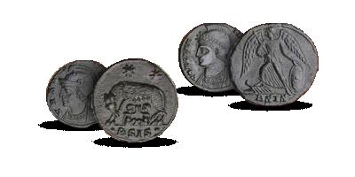Over 1600 år gamle mønter fra Romerske imperiet