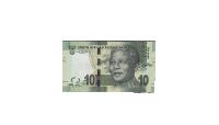 Nelson Mandela 10 rand jubilæumsseddel