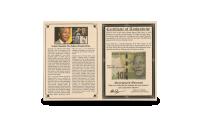 Sedlen leveres i en informativ mappe med mange interessante fakta om Nelson Mandela samt ægthedscertifikat