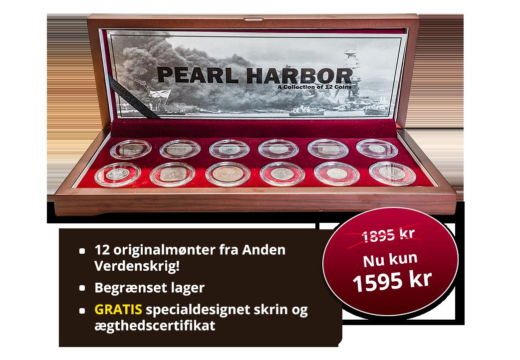 Pearl Harbor - Historisk sæt med originale mønter fra Stillehavskrigen