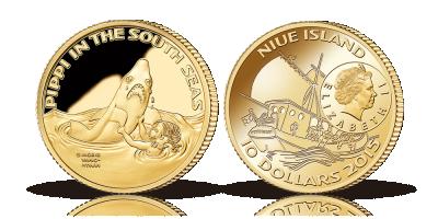 Astrid Lindgrens mest elskede karakter på en mønt i 90% guld