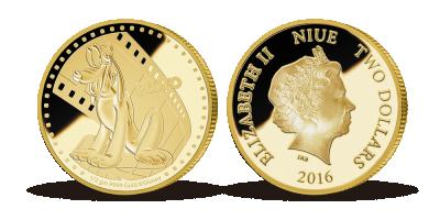 Pluto, den loyale og frække hund, præget på en eksklusive mønt i 99,9% guld