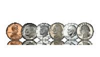 Nu kan du sikre dit helt eget komplette sæt med alle seks amerikanske cirkulationsmønter med portrætter af præsidenter.