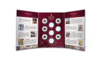 """En mønt der indleder den korte samling """"Romerrigets mønter"""", med totalt 9 mønter fra Romerrigets storhedstid"""
