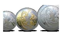 Silver Sovereign møntsæt som indeholder hele fem eksklusive Sovereigns.