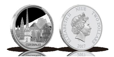 Stor sølvmønt til fejring af København -Hovedstaten fylder 850 år