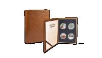 Et flot speciallavet skrin, udformet som en læderindbunden bog