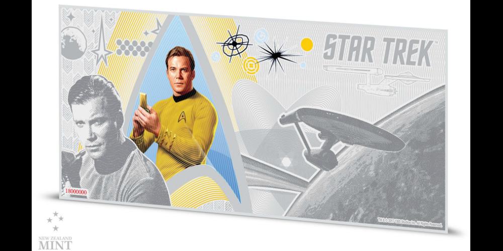 Star Trek 5 g sølvseddel med Kaptajn Kirk
