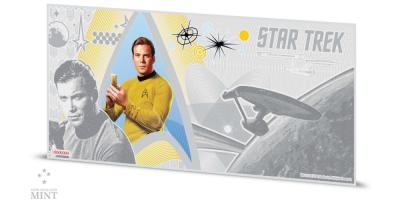 Star Trek 5 g sølvseddel med Captain Kirk