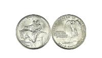 Motivet på mønten er med nogle af de mest berømte personer i USA's historie: Robert E. Lee, Stonewall Jackson