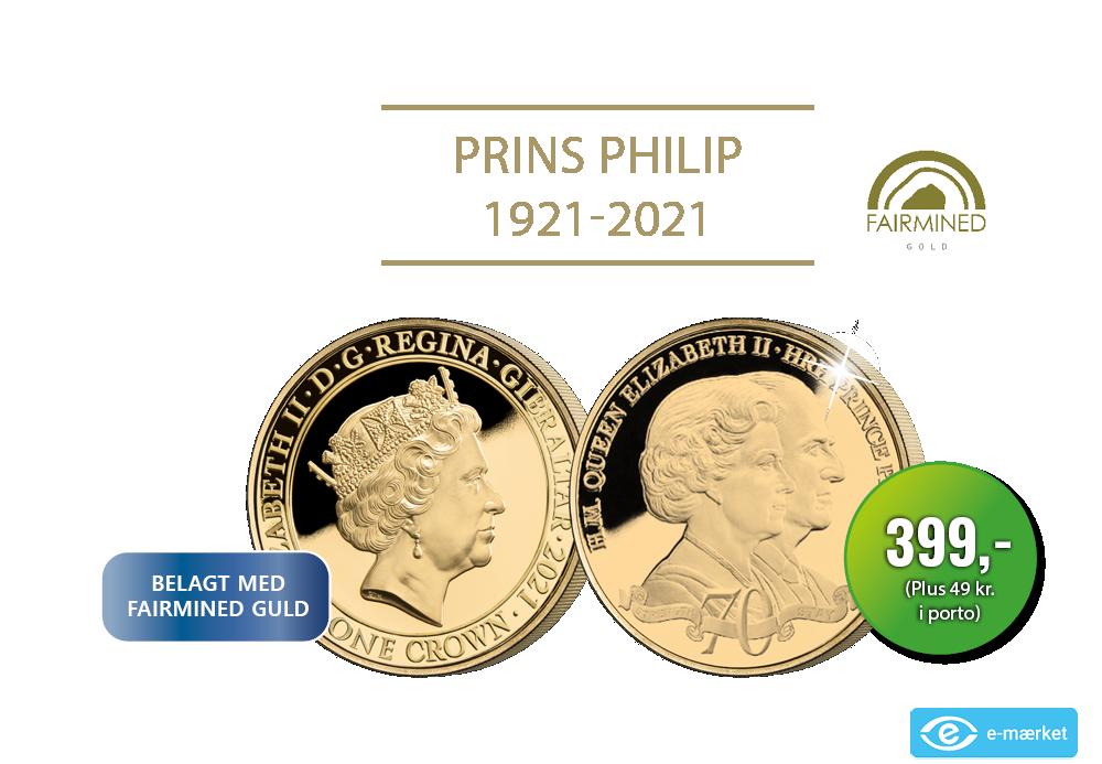 Guldmønt med Dronning Elizabeth II & Prins Philip