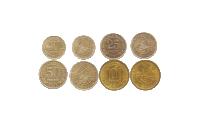 Hele 4 mønter, der markerer 100-årsdagen for underskrivelsen af Svalbard-traktaten.