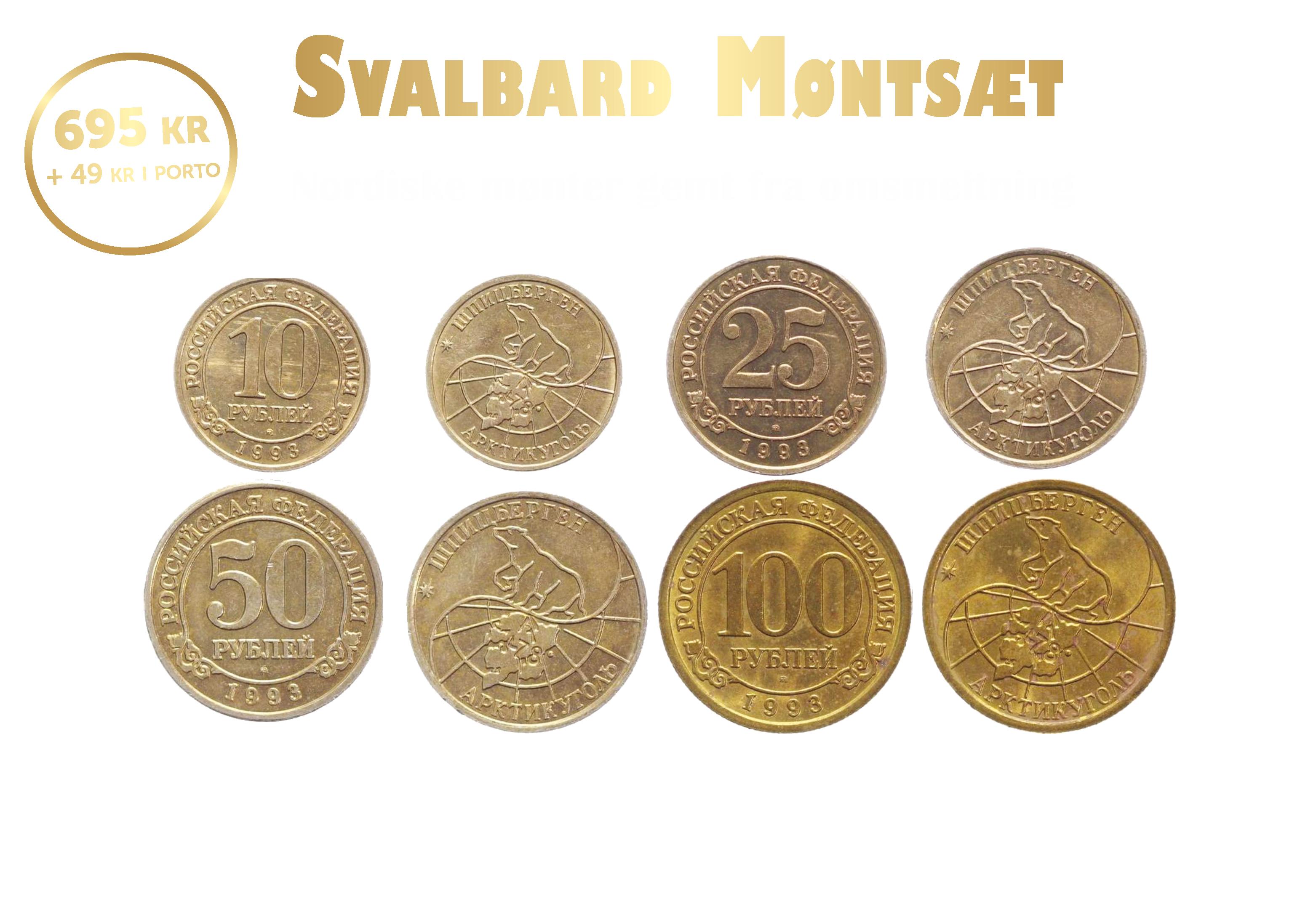 Svalbard Møntsæt - Nordiske mønter gemt fra omsmeltning